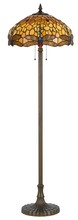 "CAL Lighting BO-2372FL - 60"" Height Zinc Cast Floor Lamp In Antique Brass"