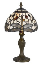 "CAL Lighting BO-2380AC - 14"" Height Zinc Cast Accent Lamp In Antique Brass"
