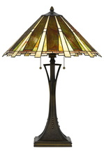 "CAL Lighting BO-2645TB - 28"" Height Metal Table Lamp In Dark Bronze"