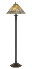"CAL Lighting BO-2675FL - 60.5"" Height Resin Floor Lamp In Matt Black"