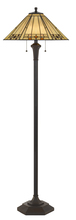 "CAL Lighting BO-2676FL - 60"" Height Resin Floor Lamp In Matt Black"