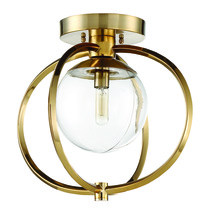 Craftmade 45551-SB - Piltz 1 Light Semi Flush in Satin Brass