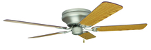 "Craftmade K10313 - Pro Contemporary Flushmount 52"" Ceiling Fan Kit in Brushed Satin Nickel"
