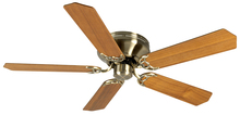 "Craftmade K10997 - Pro Contemporary Flushmount 52"" Ceiling Fan Kit in Antique Brass"