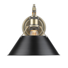 Golden 3306-1W AB-BLK - 1 Light Wall Sconce