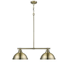 Golden 3602-2LP AB-AB - 2 Light Linear Pendant