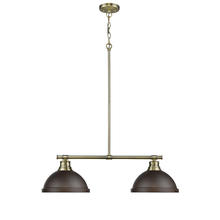 Golden 3602-2LP AB-RBZ - 2 Light Linear Pendant