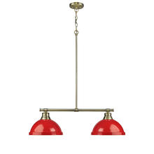 Golden 3602-2LP AB-RD - 2 Light Linear Pendant