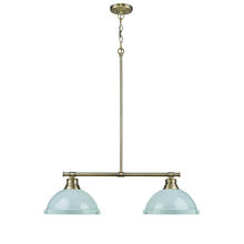 Golden 3602-2LP AB-SF - 2 Light Linear Pendant