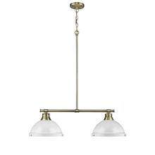 Golden 3602-2LP AB-WH - 2 Light Linear Pendant
