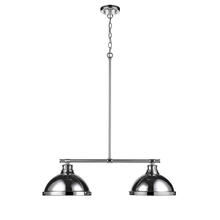 Golden 3602-2LP CH-CH - 2 Light Linear Pendant