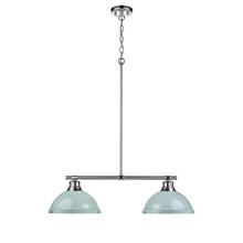 Golden 3602-2LP CH-SF - 2 Light Linear Pendant