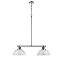 Golden 3602-2LP CH-WH - 2 Light Linear Pendant