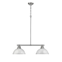 Golden 3602-2LP PW-WH - 2 Light Linear Pendant