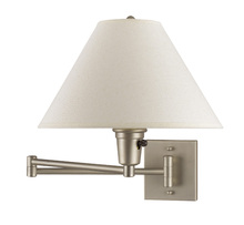 "CAL Lighting BO-635-BS - 10"" Height Metal Wall Lamp In Brushed Steel"