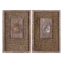Uttermost 04126 - Uttermost Endicott Petrified Wood Panels Set/2